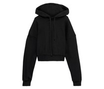 Embroidered French Cotton-blend Terry Hoodie