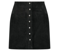 Stretch-suede Mini Skirt Schwarz