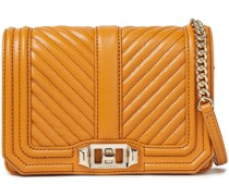 Chevron Quilted Leather Shoulder Bag