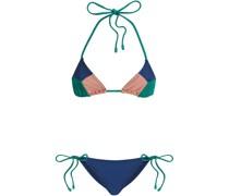 Freja Triangel-bikini in Colour-block-optik