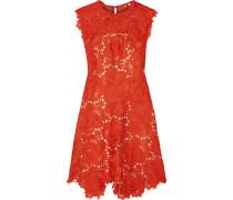 Elina Guipure Lace Mini Dress Tomatenrot