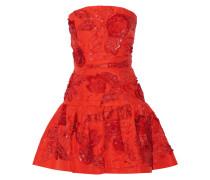 Embellished Silk Mini Dress Tomatenrot