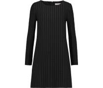 Metalic Pinstriped Silk-blend Mini Dress Schwarz