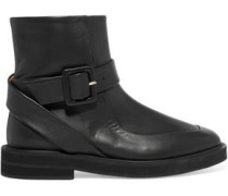 Officier leather ankle boots