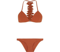 Alchemy broderie anglaise-trimmed triangle bikini