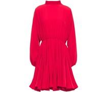 Caroline Gathered Crepe Mini Dress