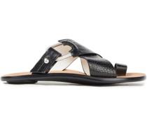 August Sandalen aus Leder mit Krokodileffekt