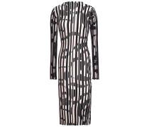 Printed Ribbed-knit Midi Dress