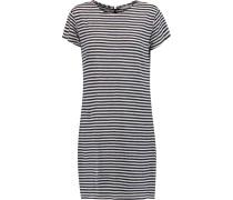 Raven Striped Linen Mini Dress Indigo