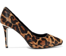 Lexi Leopard-print Calf Hair Platform Pumps