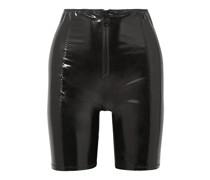 Shorts aus Stretch-pvc mit Reißverschlussdetails