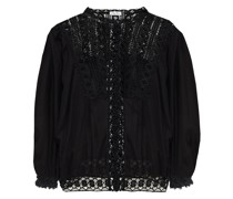 Cala Crocheted Lace And Cotton-blend Voile Blouse