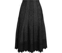 Pointelle-knit midi skirt