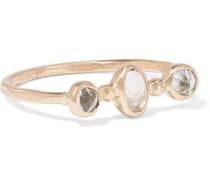 14-karat gold, topaz and moonstone ring