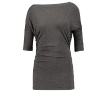 Tapir Ruched Stretch-jersey Top Schiefer