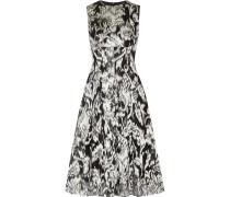 Metallic Fil Coupé Dress Silber