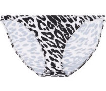 Printed low-rise bikini briefs