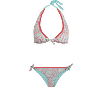 Mare Crochet-knit Halterneck Bikini Mehrfarbig