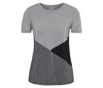 T-shirt aus Stretch-jersey in Colour-block-optik