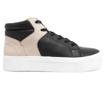Leather High-top Sneakers Schwarz