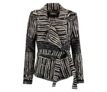 Belted cotton-blend coat