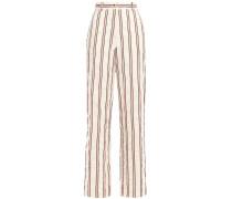 Buddy Crinkled Cotton-blend Jacquard Wide-leg Pants