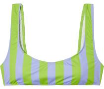 The Elle Striped Bikini Top