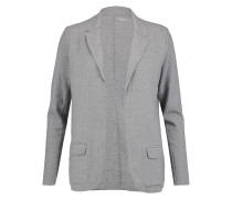 Frayed Cotton-blend Jersey Blazer Grau