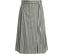 Pinstriped midi skirt