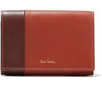 Zweifarbiges Portemonnaie aus Leder
