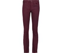 Printed High-rise Skinny Jeans Burgunder