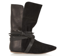 Nira Suede And Leather Ankle Boots Schwarz