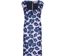 Woman Floral-print Duchesse-satin Dress Lavender