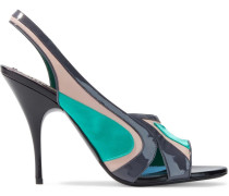Satin, Smooth And Patent-leather Slingback Pumps
