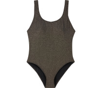 The Anne-marie Ribbed Lamé Swimsuit