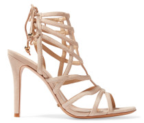 Latonya Suede Sandals Beige