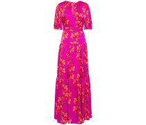 Alma Floral-print Hammered Silk-satin Maxi Dress
