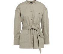 Belted Stretch-cotton Twill Jacket