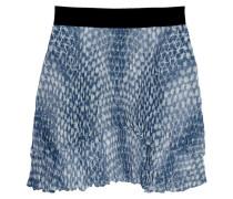 Tiered Printed Chiffon Mini Skirt Rauchblau