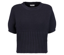 Serreval Ribbed Cotton-blend Sweater Mitternachtsblau