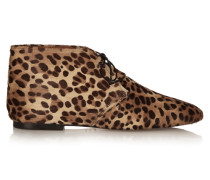 Ginger Leopard-print Calf Hair Ankle Boots Leoparden-Print