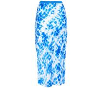 Tie-dyed Silk-satin Midi Skirt