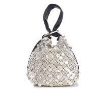Ines Leather-trimmed Embellished Crocheted Clutch