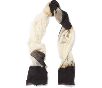 Printed Cashmere Scarf Gold