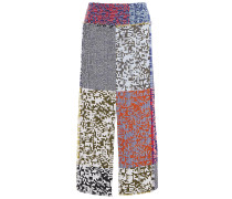 Booth Patchwork-effect Wool  And Cotton-blend Jacquard Midi Skirt