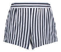 Striped Voile Shorts Navy