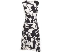 Asymmetric Printed Silk-blend Cady Dress