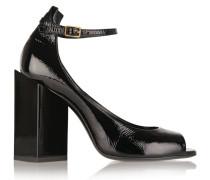 Ace Patent-leather Sandals Grün