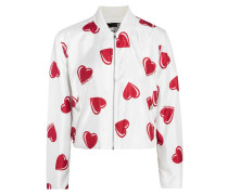 Printed Shell Bomber Jacket Weiß