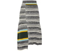 Patchwork-effect Ribbed Cotton-blend Midi Skirt